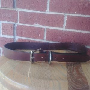 """Structure usa-made brown Italian leather belt 34"""""""